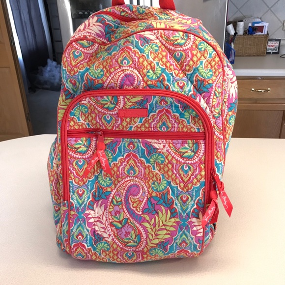 Vera Bradley Paisley Paradise Campus Backpack